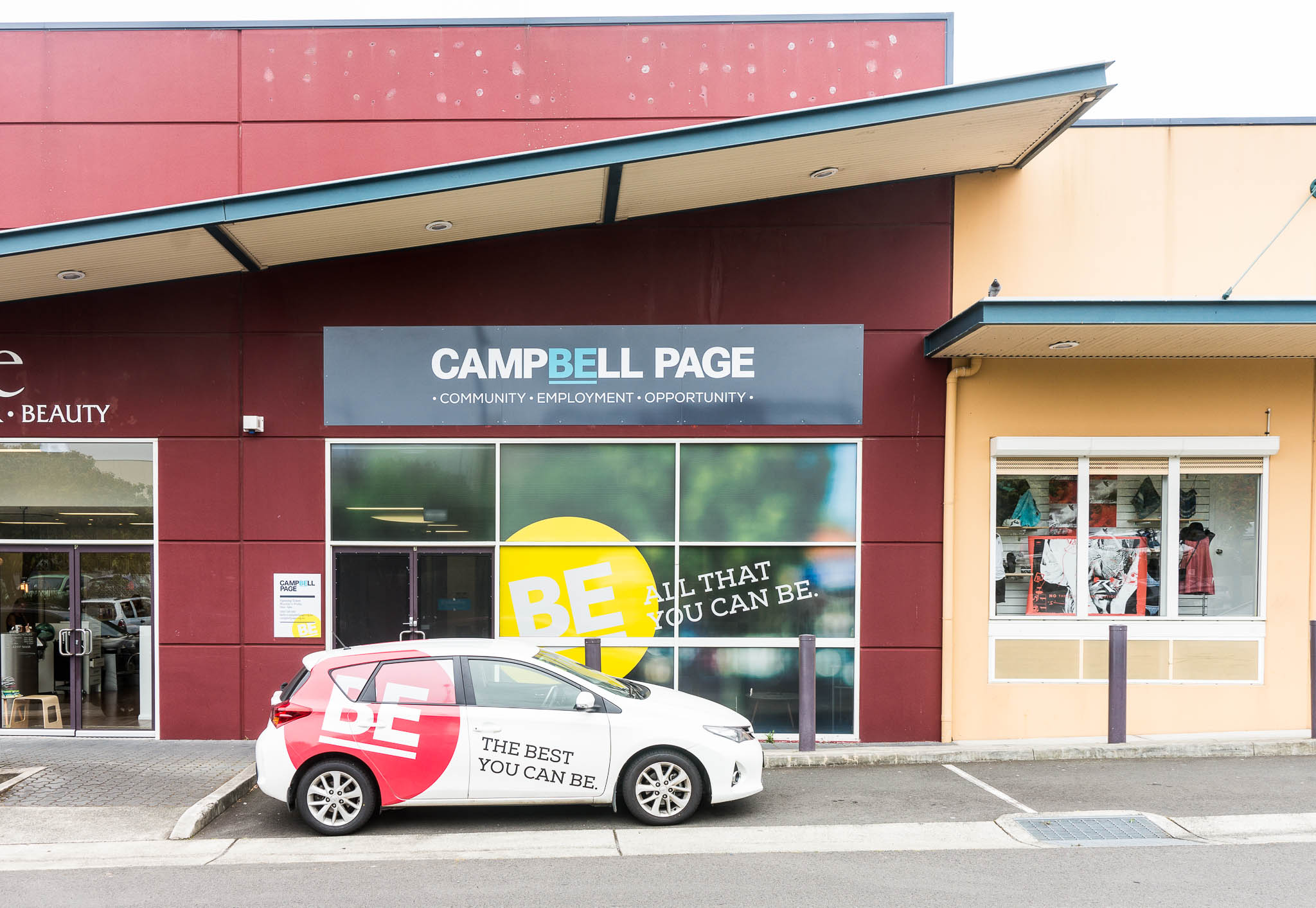 campbell page signage by think creative agency