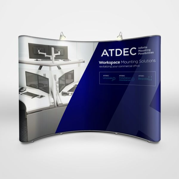 Atdec trade show booth design by Think Creative Agency Featured