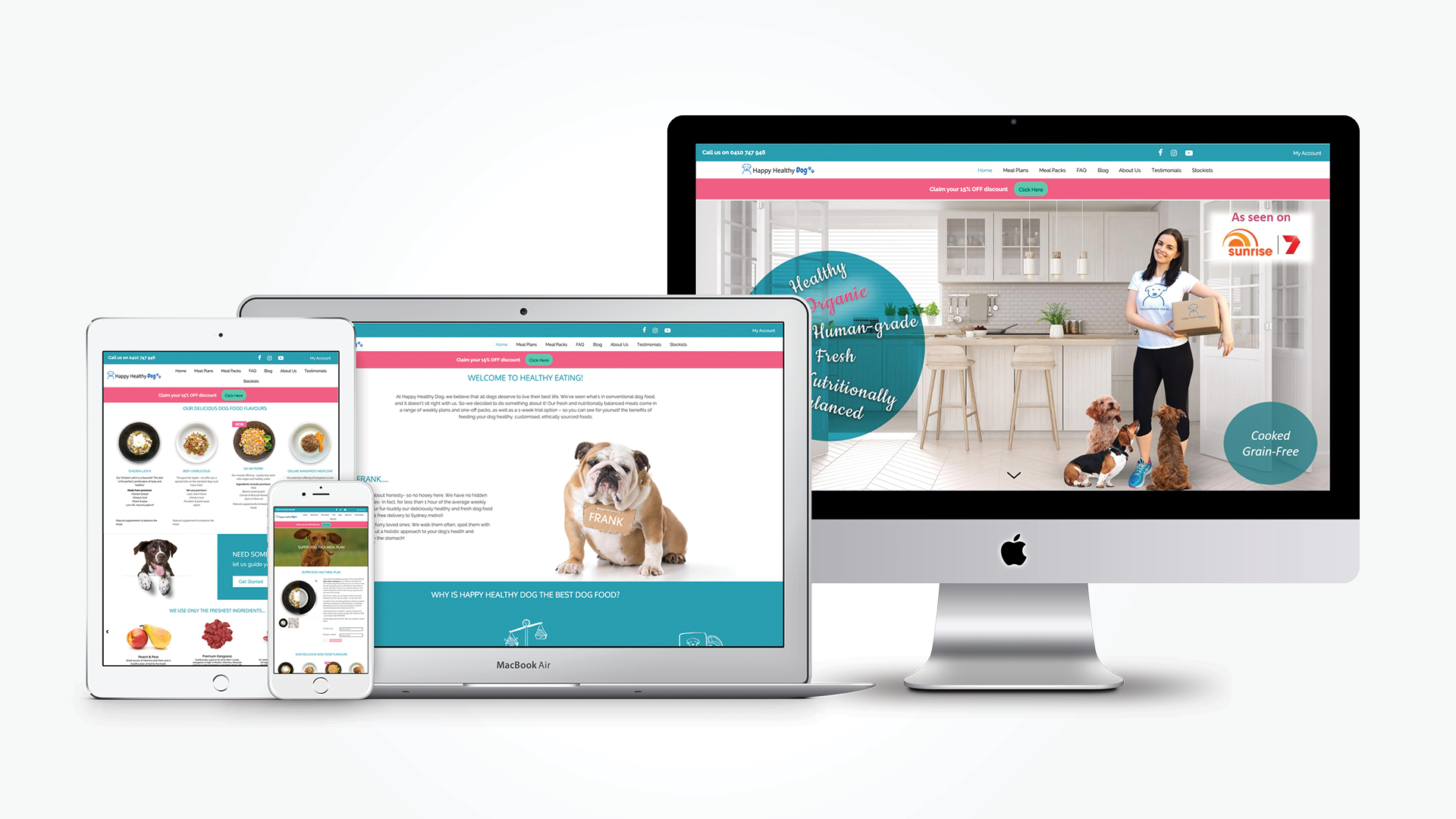 Happy Healthy Dog Website Development by Think Creative Agency
