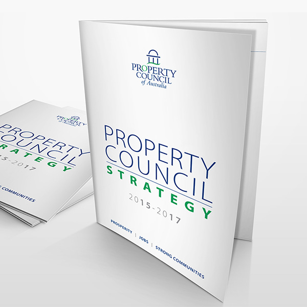 Property Council of Australia brochure design by Think Creative Agency Featured